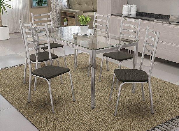 Conjunto de Mesa Reno 06 Cadeiras Alemanha - CR21