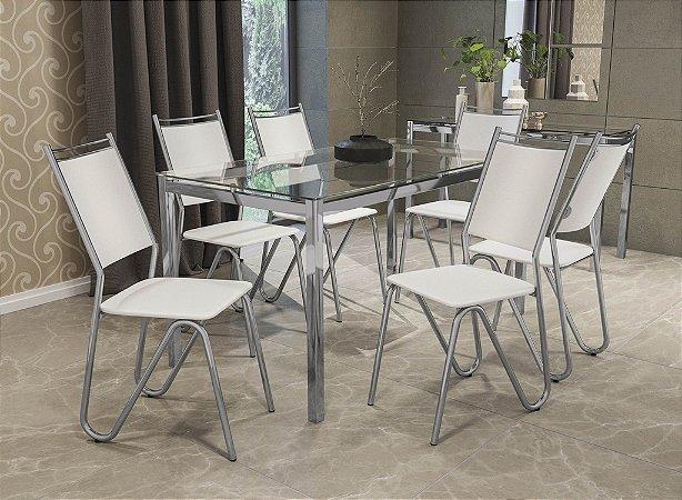 Conjunto de Mesa Reno 06 Cadeiras Londres - CR106