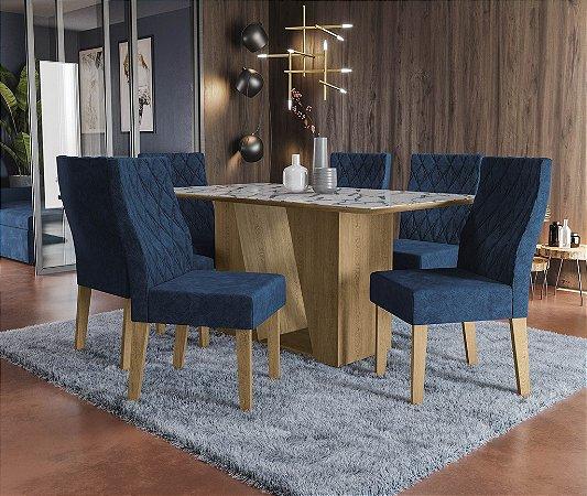 Conjunto de Mesa Roma 6 Cadeiras D008 - Kappesberg
