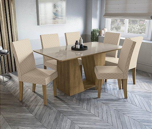 Conjunto de Mesa Roma 6 Cadeiras A021 - Kappesberg