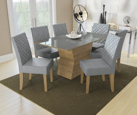 Conjunto de Mesa Tília 6 Cadeiras A018 - Kappesberg
