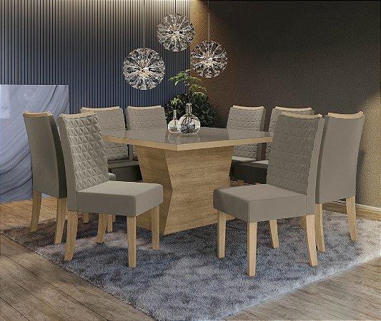 Conjunto de Mesa Tília 8 Cadeiras A016 - Kappesberg