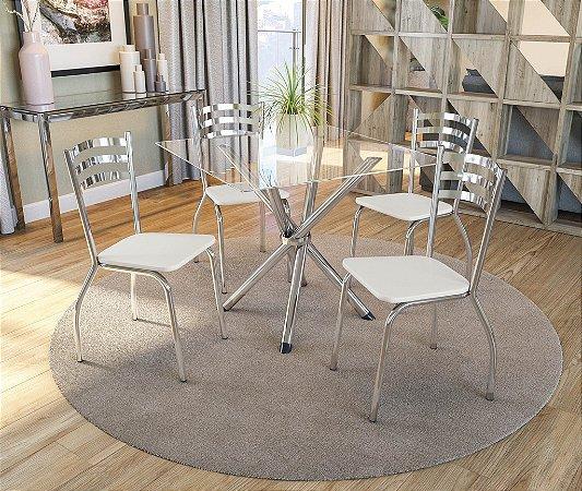Conjunto de Mesa Volga 04 Cadeiras Portugal - CR106