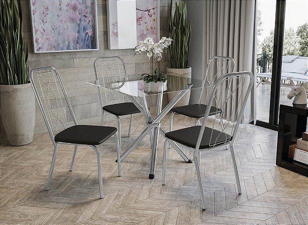 Conjunto de Mesa Volga 04 Cadeiras Viena - CR110