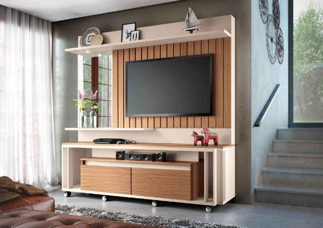 Home Theater Eclipse - Off white / Nature