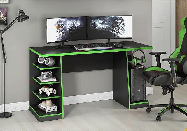 Mesa Gamer NT2020 Preto/Verde