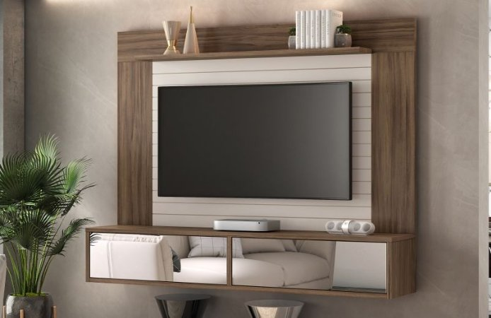 Painel NT1105 Cor Nogal Trend/ Off White