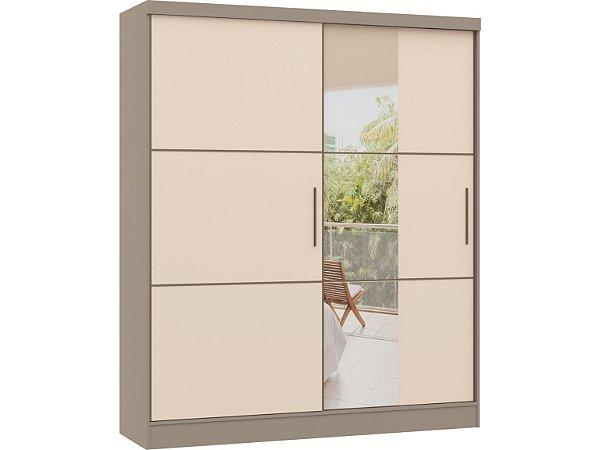 Guarda Roupa Classic 0621A - Níquel / Blanc com espelho