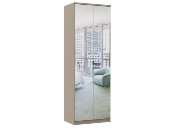 Módulo 2 Portas Elegance 4220A - Níquel com espelho