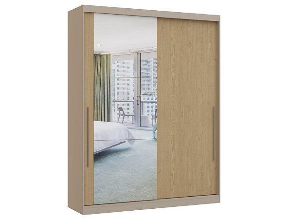 Guarda Roupa 2 Portas de Correr Premium Elegance 4222A - Níquel / Angelin com espelho