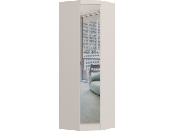 Módulo Canto Oblíquo Infinity 3805 - Branco com espelho