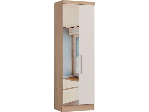 Módulo 2 Portas Infinity 3820A - Nogueira / Branco com espelho