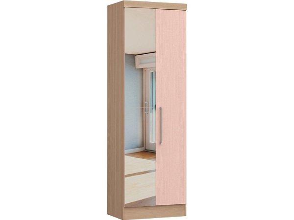 Módulo 2 Portas Infinity 3820A - Nogueira / Rosa  com espelho