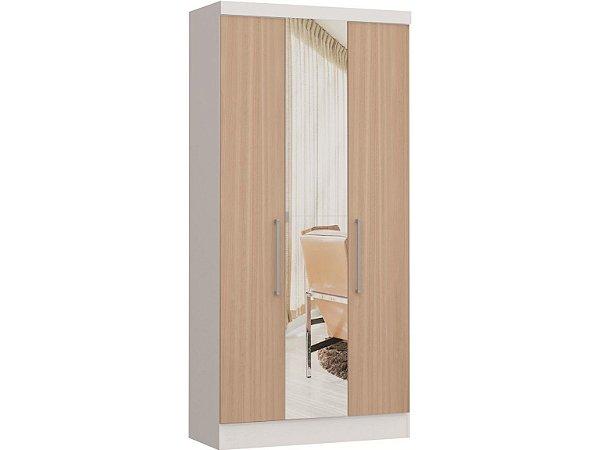 Módulo 3 Portas Infinity 3830A - Branco / Nogueira  com espelho