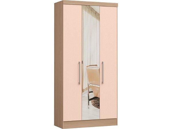 Módulo 3 Portas Infinity 3830A - Nogueira / Rosa  com espelho