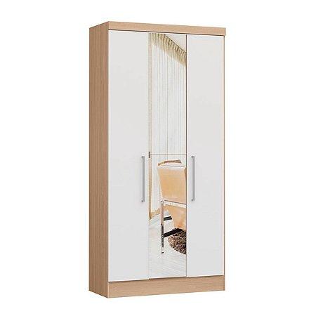 Módulo 3 Portas Infinity 3830A - Nogueira / Branco com espelho