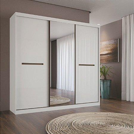 Guarda Roupa Dijon com Espelho - Branco - Santos Andirá