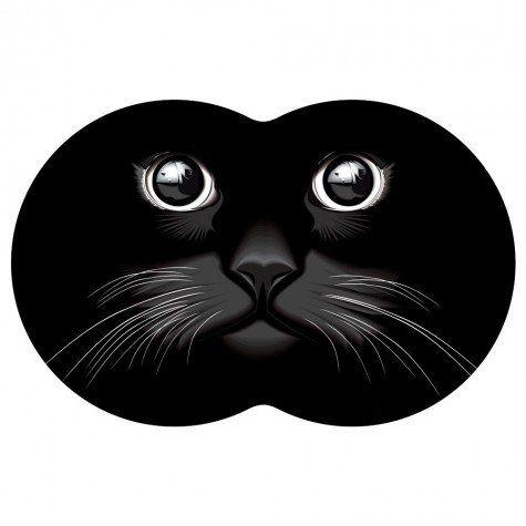 Tapete Pet Gato - Preto 54X39cm