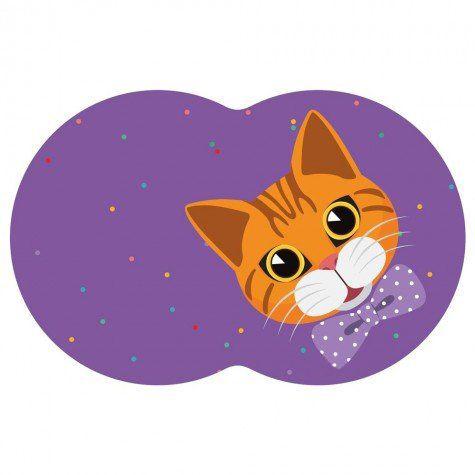 Tapete Pet Gato - Roxo 54X39cm