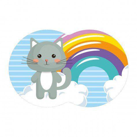 Tapete Pet Gato - Azul 54X39cm