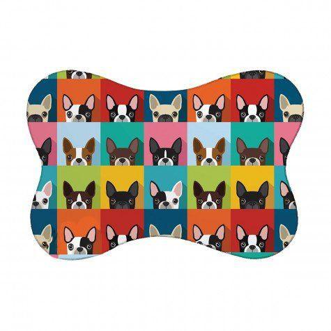 Tapete Pet Bulldog - Colorido 46X33cm