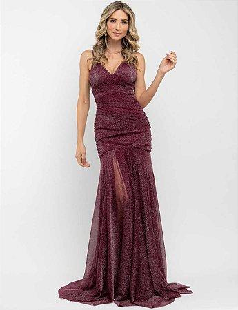 Vestido Longo Lorena Marsala
