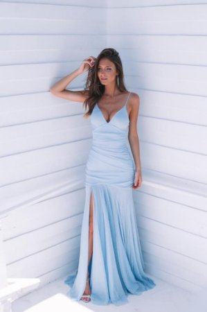 Vestido Longo Lorena Azul