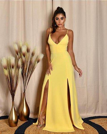 Vestido Longo Ibiza Amarelo