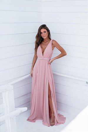 Vestido Longo Nai Rosa