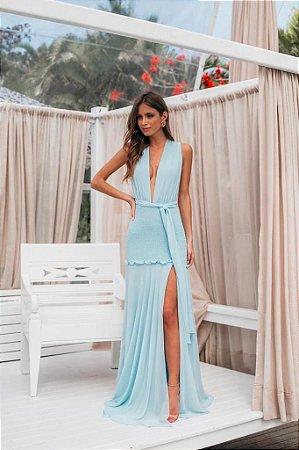 Vestido Longo Raissa Azul