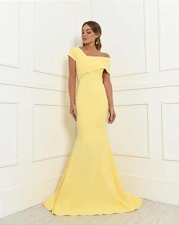 Vestido Longo Sol Amarelo