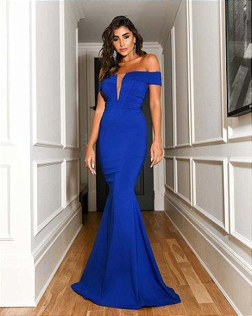Vestido Longo Sab Azul