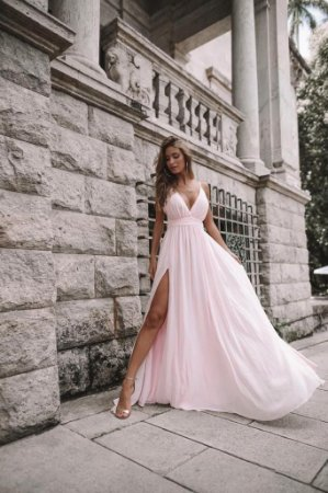 Vestido Longo Lilian Rosa