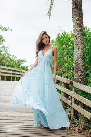Vestido Longo Del Azul