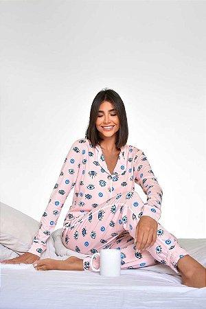 Pijama Eyes Rosa