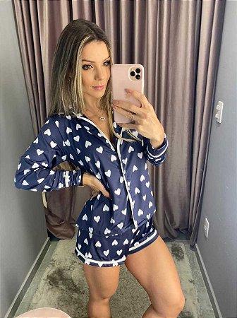 Pijama Shorts Coração