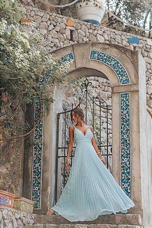 Vestido Longo Valentina Azul