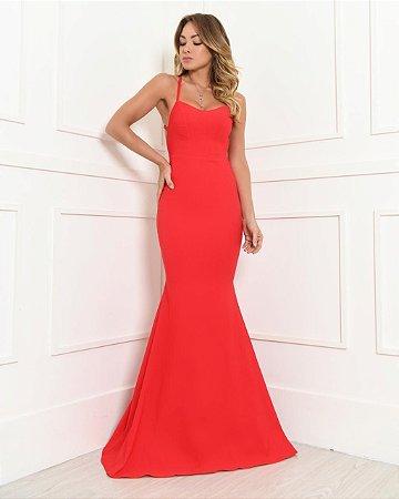 Vestido Longo Jade Vermelho