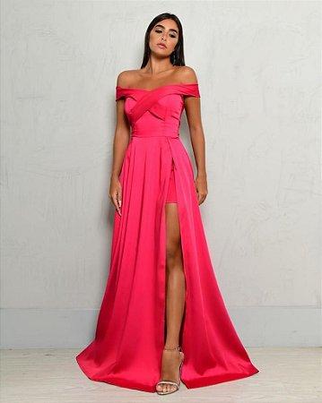 Vestido Longo Isis Pink