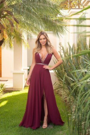 Vestido Longo Taylor Marsala