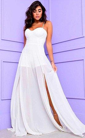 Vestido Longo Lígia Branco