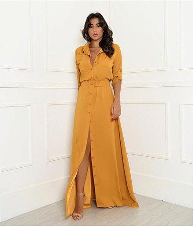 Vestido Longo Lia Mostarda