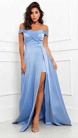 Vestido Longo Isis Azul