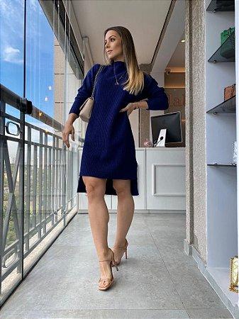 Vestido Tricot Mousse Marinho