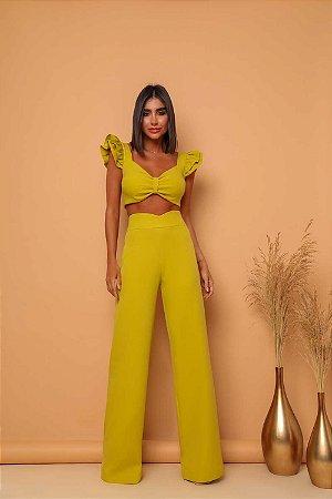 Conjunto Pantalona Anny Verde