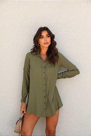 Maxi Camisa Bruna Verde