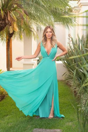 Vestido Longo Taylor Verde