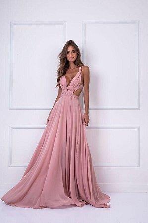 Vestido Longo Alana Rosa Candy