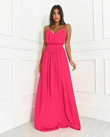 Vestido Longo Wave Pink