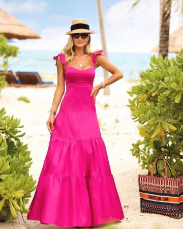 Vestido Longo Ana Pink
